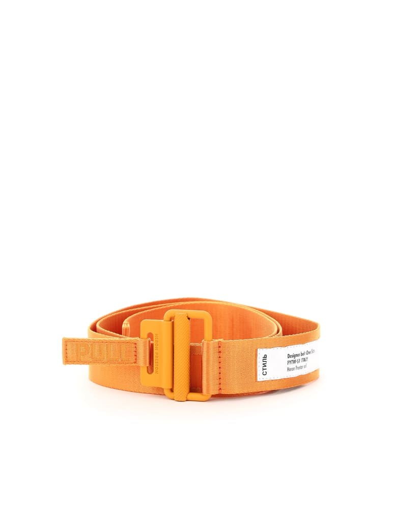 HERON PRESTON Tape Belt Classic Buckle - ORANGE (Orange)