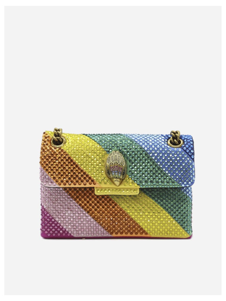 Kurt Geiger Mini Kensington Bag With All-over Multicolor Rhinestones - Multicolor