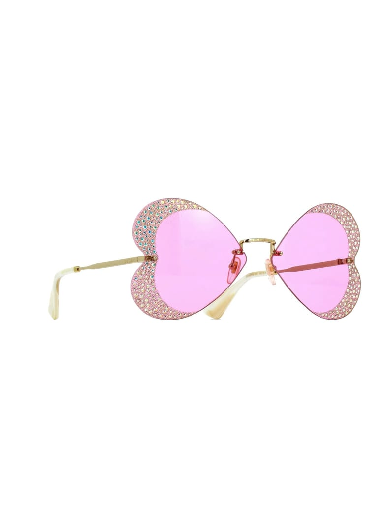 Gucci GG0897S Sunglasses - Gold Gold Pink