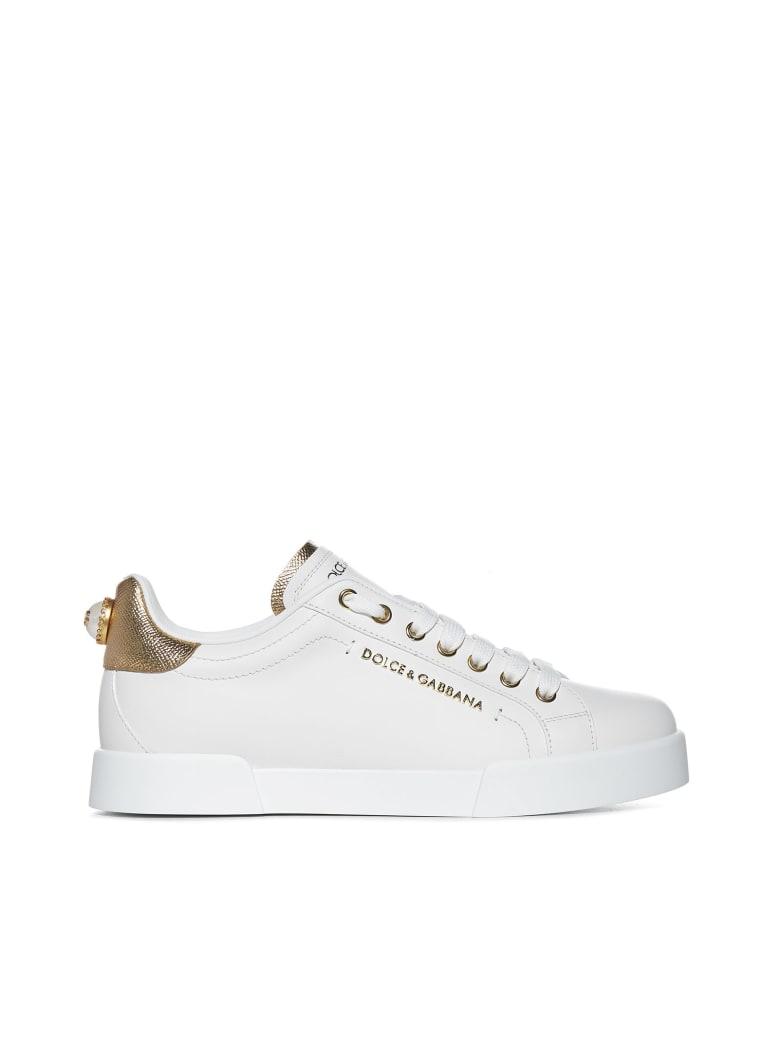 Dolce & Gabbana Sneakers - Bianco oro