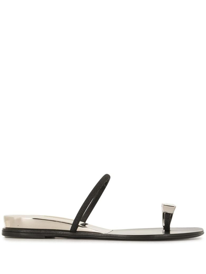 Casadei City Soraya Leather Sandals - Grey
