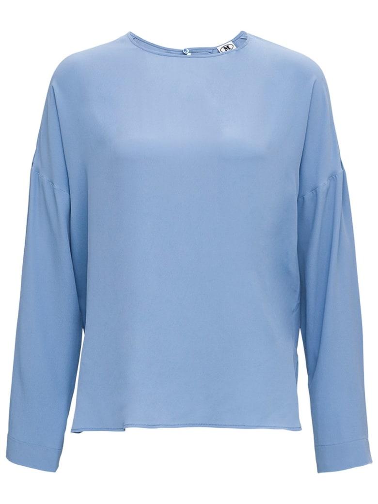M Missoni Light Blue Blouse In Silk Blend - Light blue