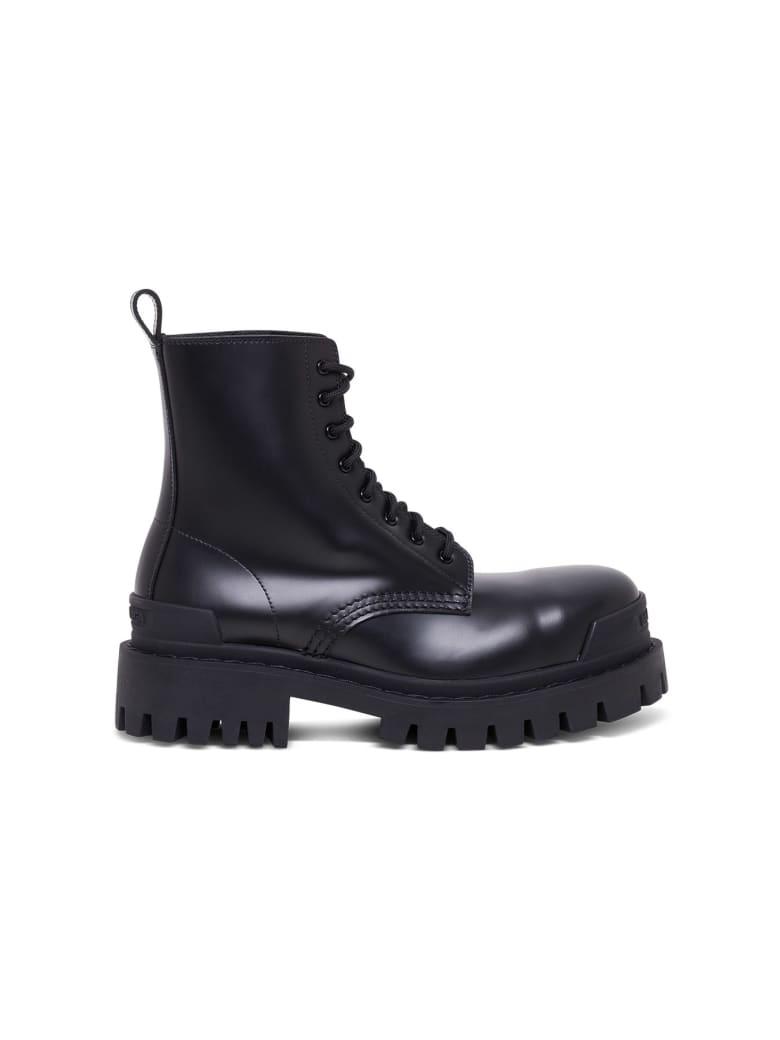 Balenciaga Strike Combat Boots - Black