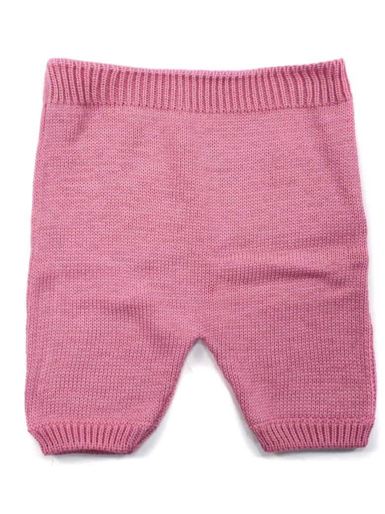 Little Bear Pink Cotton Trousers - Rosa