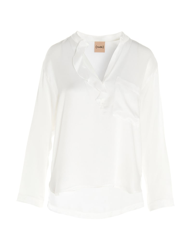 (nude) Blouse - White