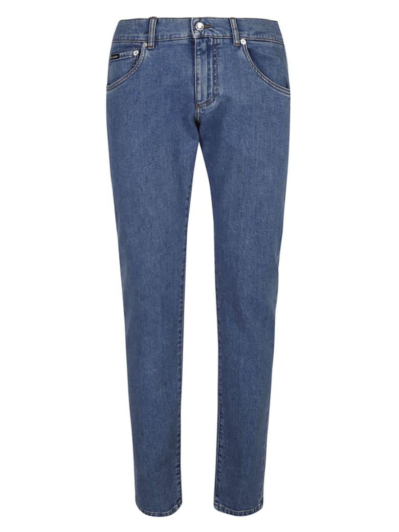 Dolce & Gabbana Regular Denim Jeans - Blue