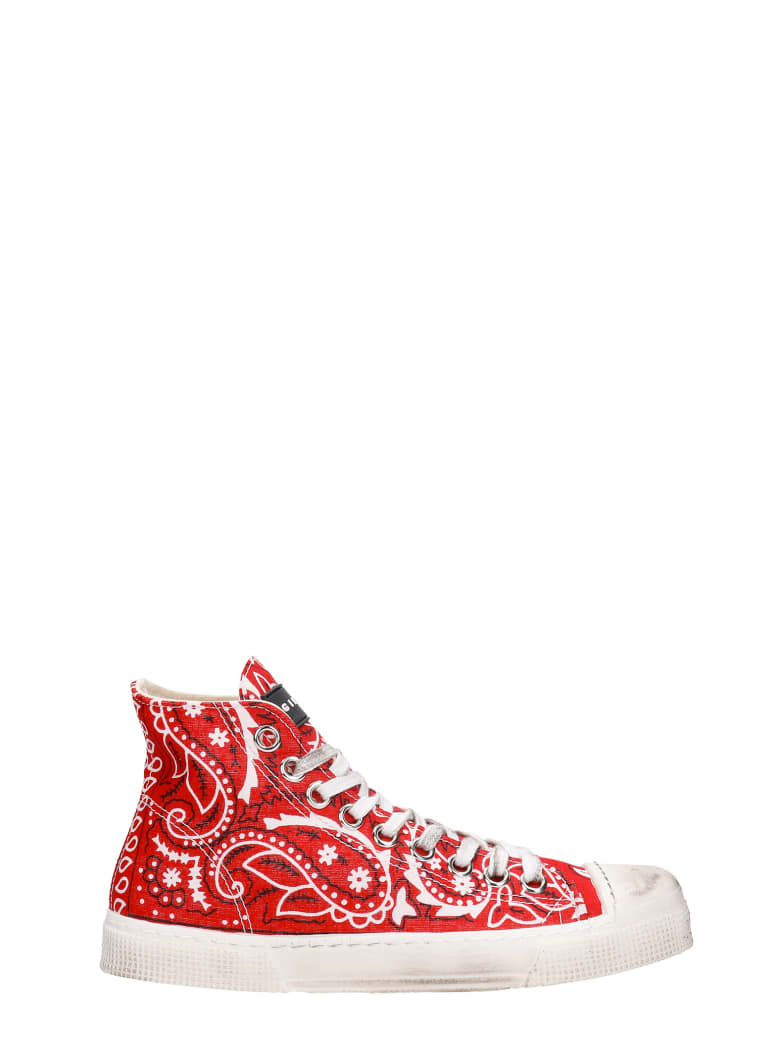 Gienchi J.m High Sneakers In Red Synthetic Fibers - red