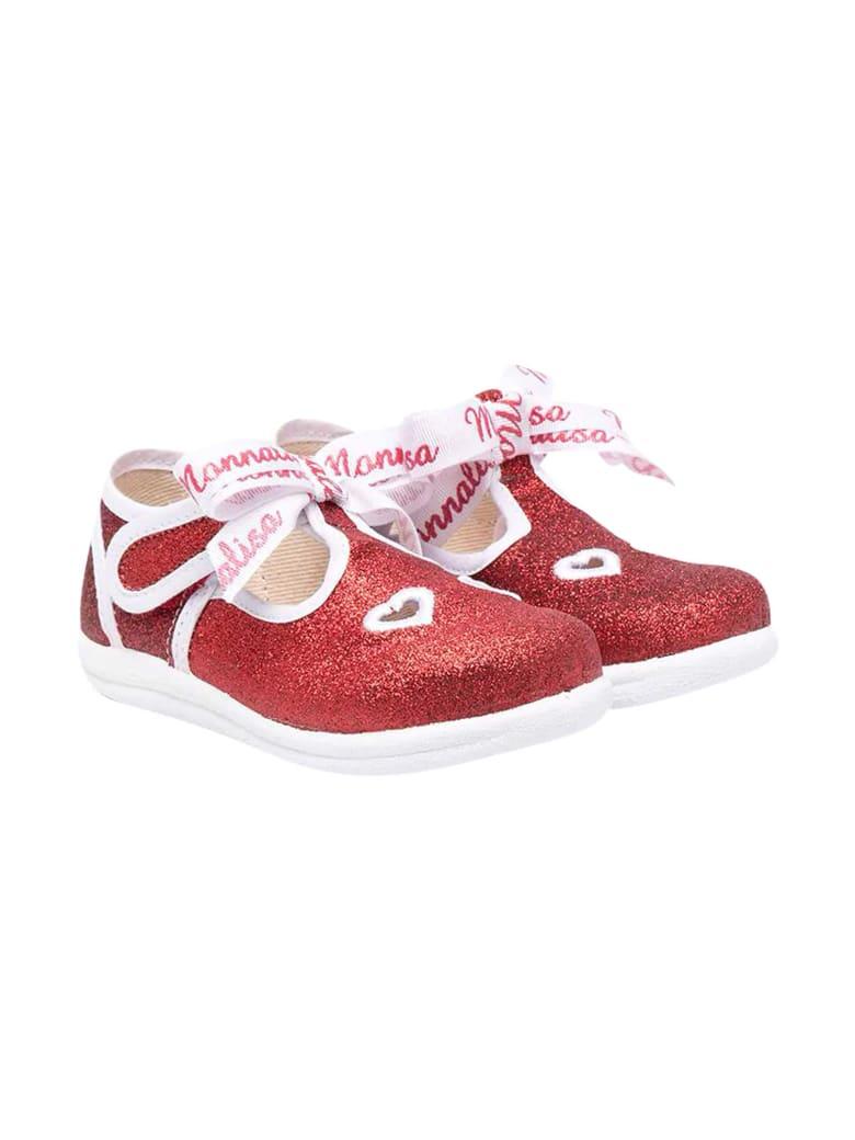 Monnalisa Glitter Red Ballet Flats - Rosso