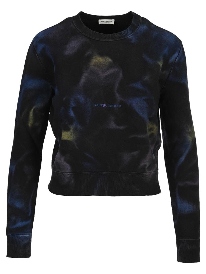 Saint Laurent Tie-dye Sweatshirt - Blu