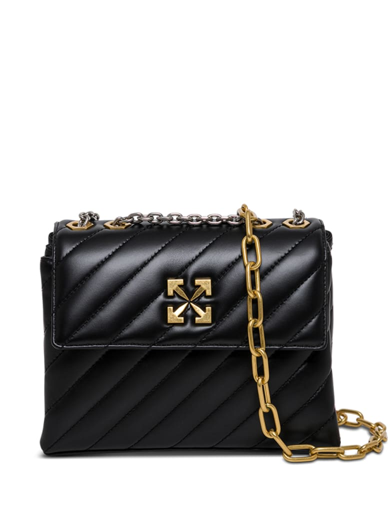 Off-White Jackhammer 24 Quilted Leather Crossbody Bag - Black