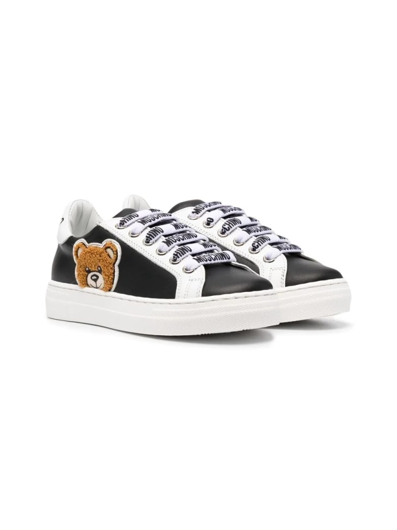 Moschino Sneakers With Applications - Black