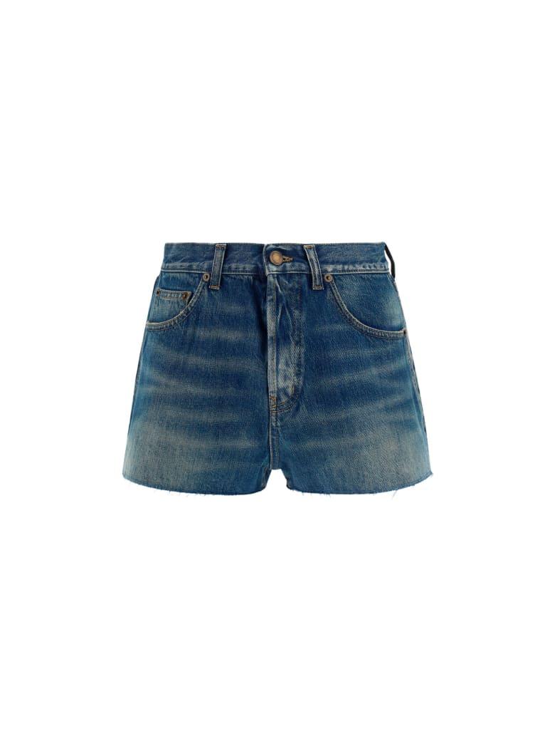 Saint Laurent Shorts - Blue serge