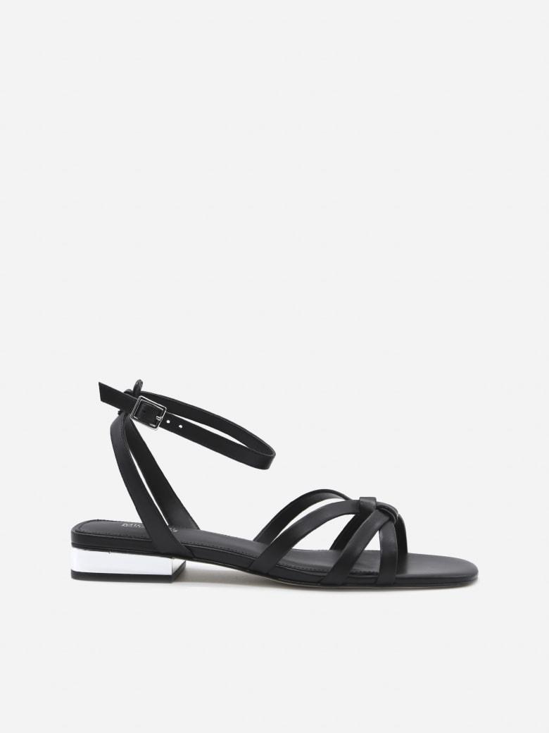 MICHAEL Michael Kors Brinkley Leather Sandals - Black