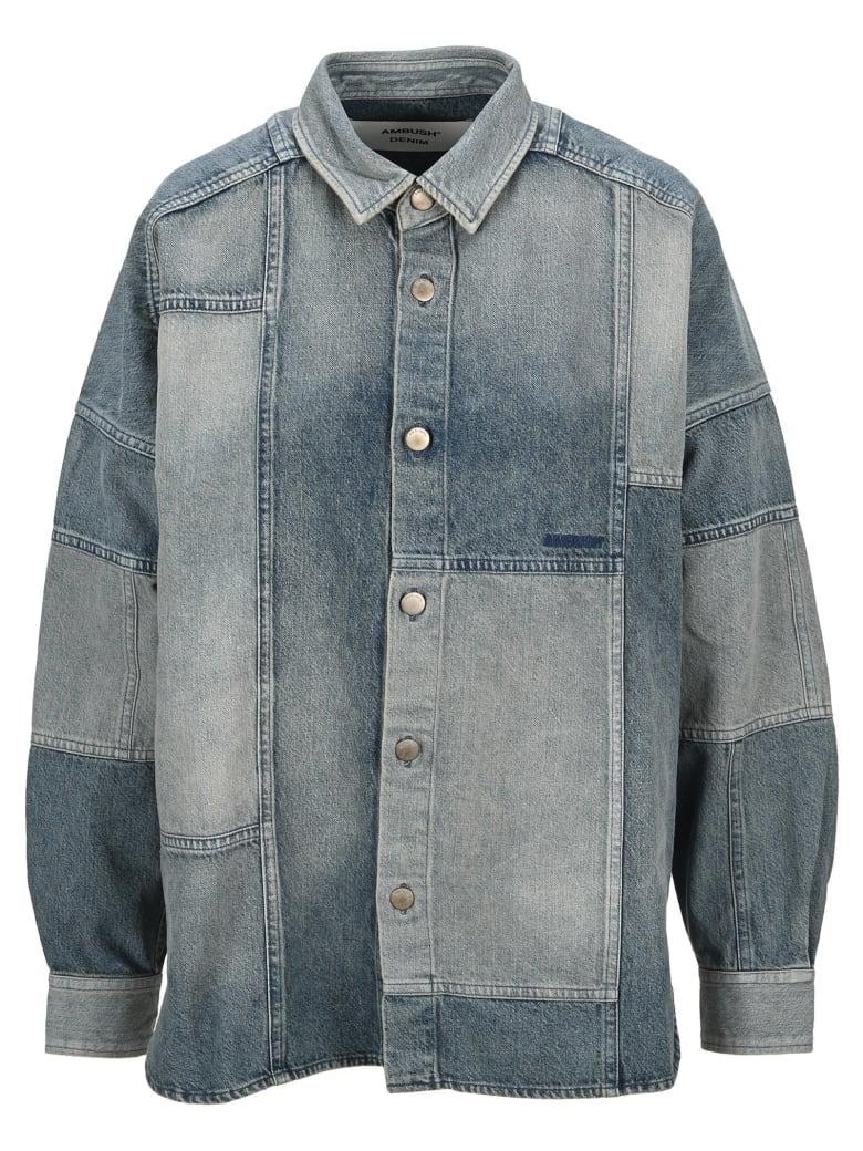 AMBUSH Patchwork Denim Shirt - Denim