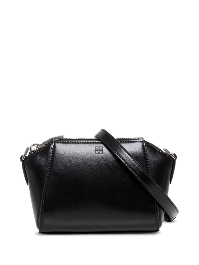 Givenchy Antigona Nano Crossbody Bag In Black Leather - Black