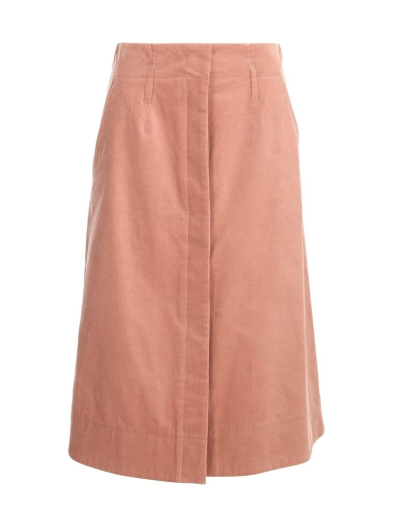 PS by Paul Smith Velvet Longuette Skirt - Fusia