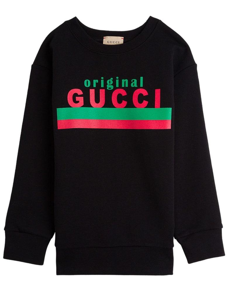 "Gucci Jersey Sweatshirt With ""original"" Print - Black"