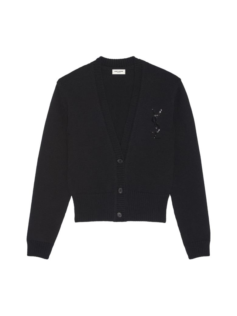 Saint Laurent Cardigan - Noir Brillant