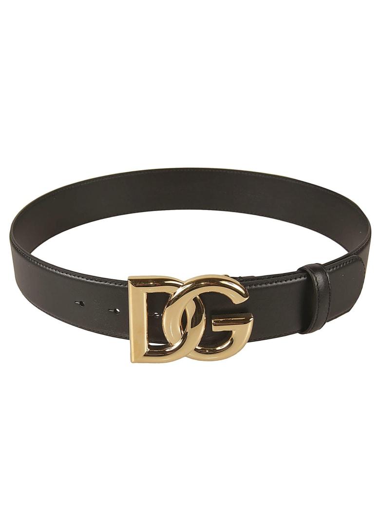 Dolce & Gabbana Logo Buckled Belt - Black