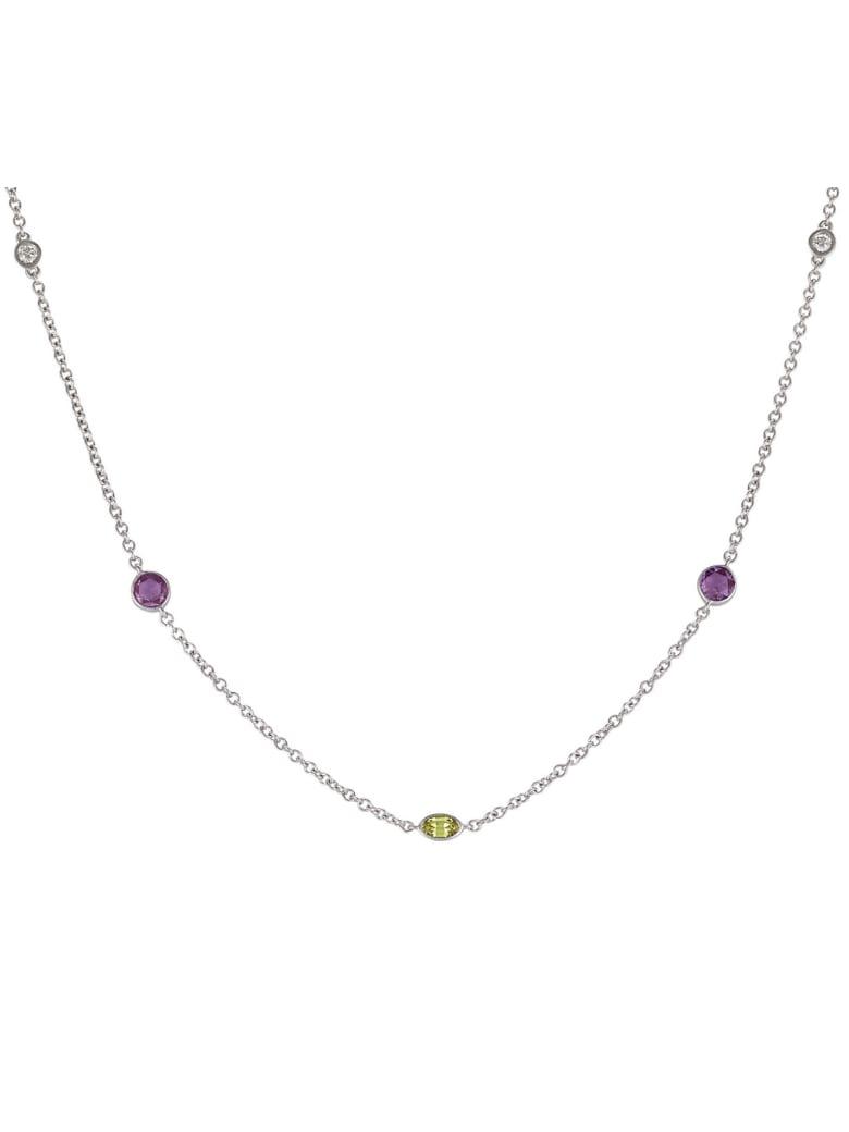 Lo Spazio Jewelry Lo Spazio Yellow, Pink Sapphire and Diamond Necklace - Yellow_Pink
