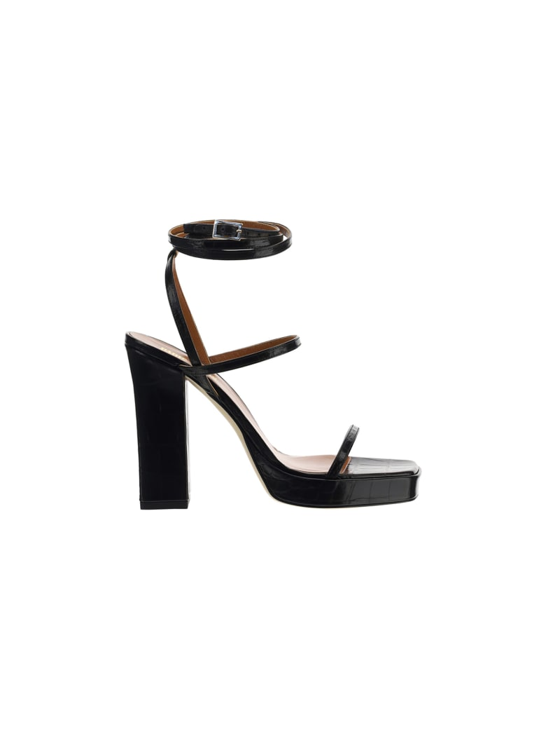 Paris Texas Bianca Sandals - Black