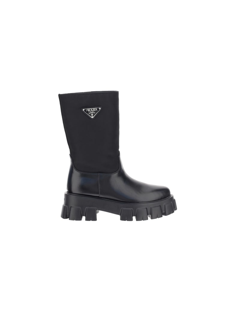 Prada Monolith Sharp Boots - Nero