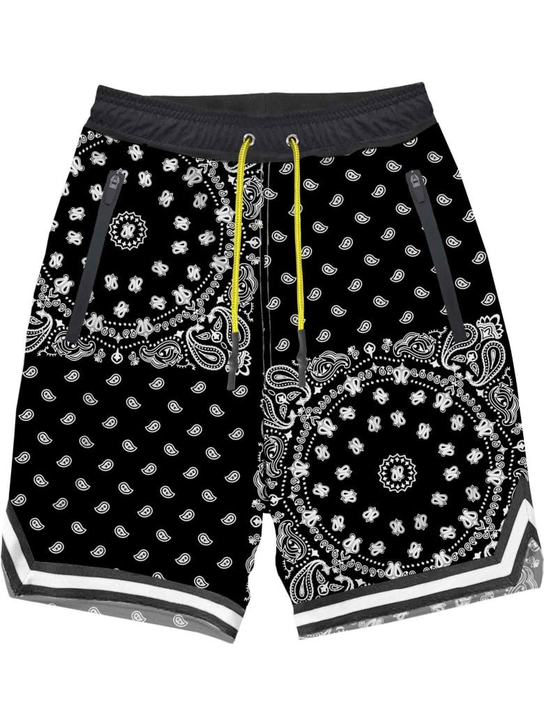 MC2 Saint Barth Black Bandanna  Print Boy Swim Shorts