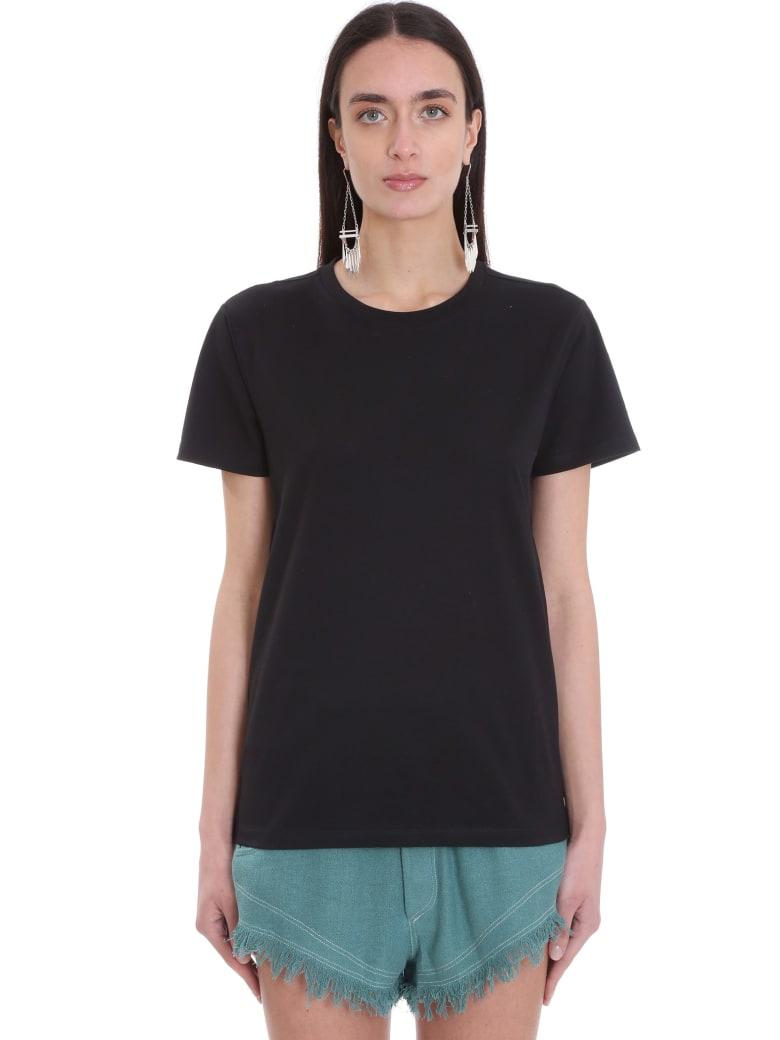 Isabel Marant Annax T-shirt In Black Cotton - black