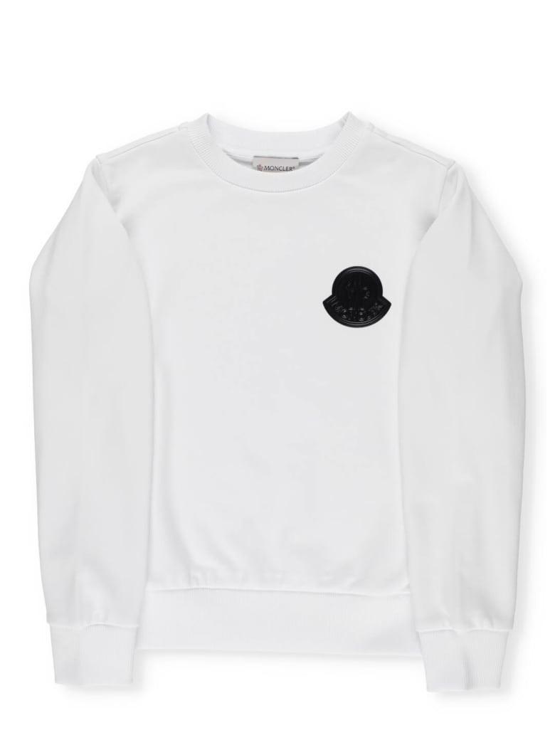 Moncler Cotton Sweatshirt - WHITE