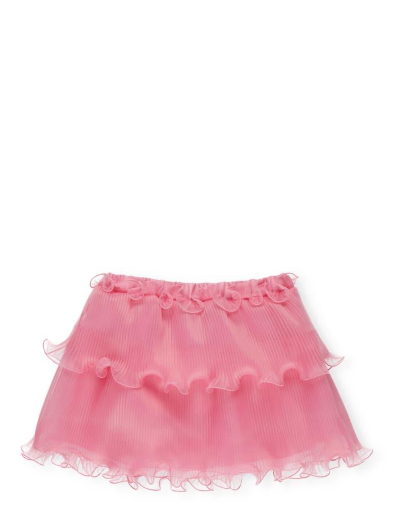 Alberta Ferretti Pleated And Ruffled Skirt - Pink