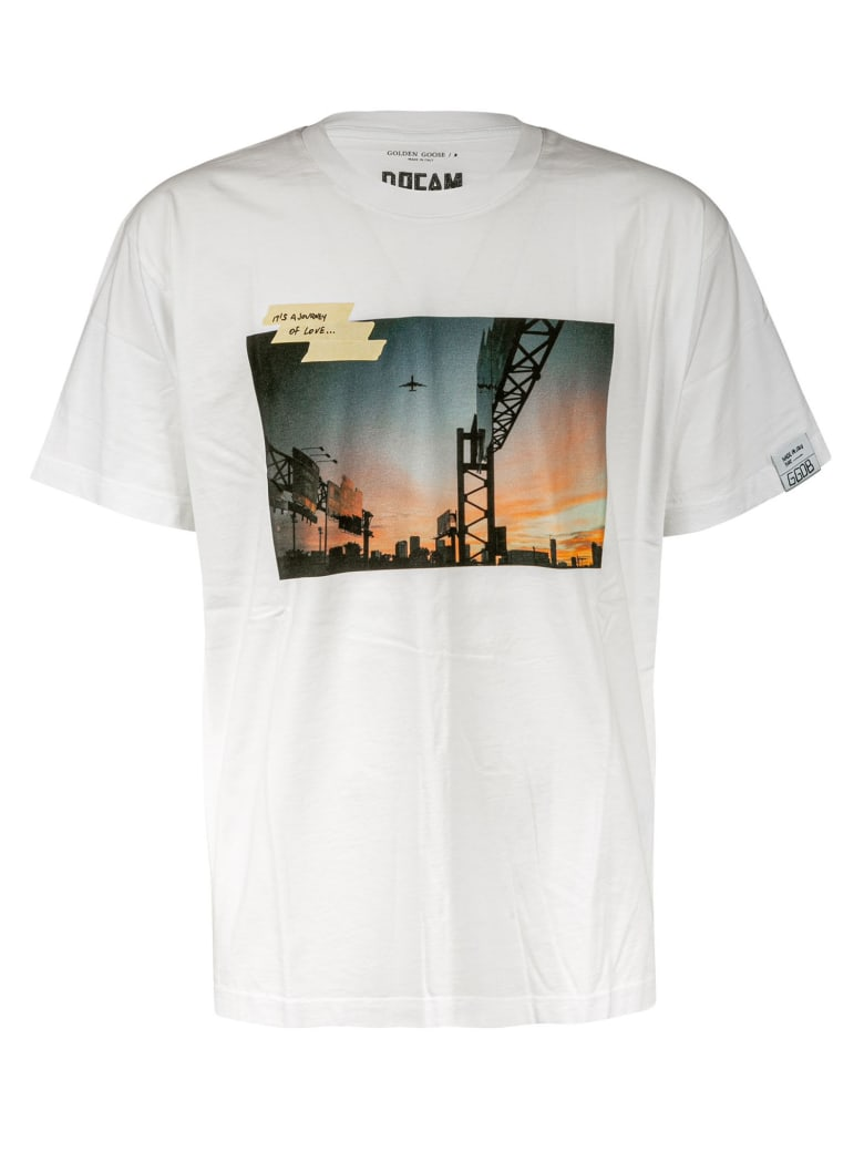 Golden Goose Sunset Postcard Oversized T-shirt - White