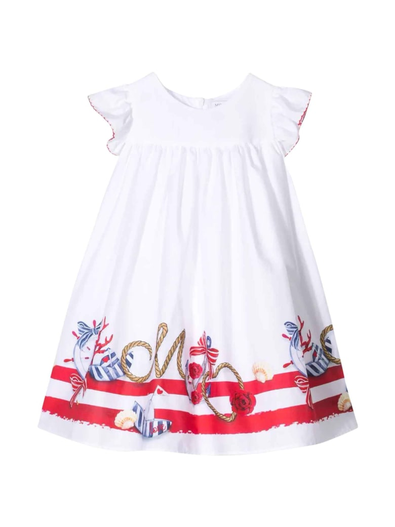 Monnalisa White Dress - Bianco