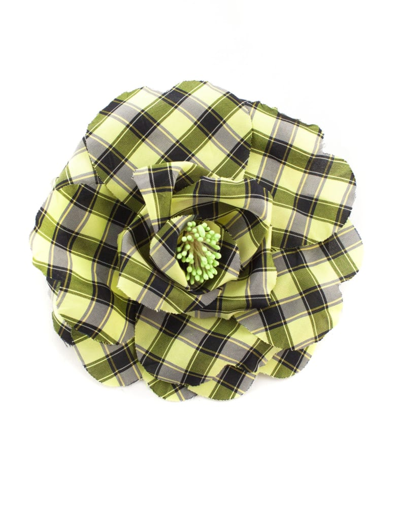 Philosophy di Lorenzo Serafini Oversize Flower Bijoux Brooch In Taffeta - Quadretti