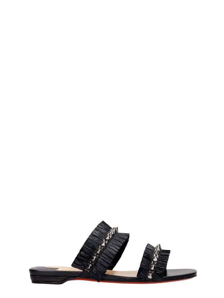 Christian Louboutin Marivodou Flats In Black Silver - black