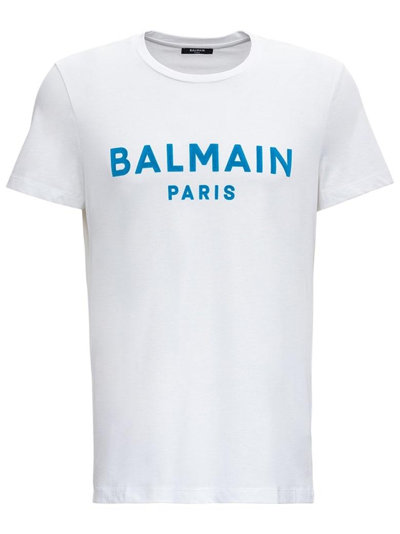 Balmain Cotton T-shirt With Logo Print - White