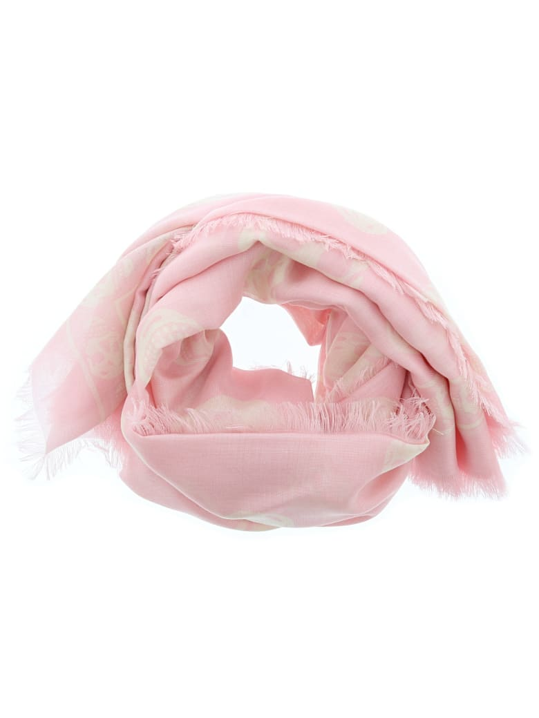 Alexander McQueen Skull Foulard - Pink/ivory
