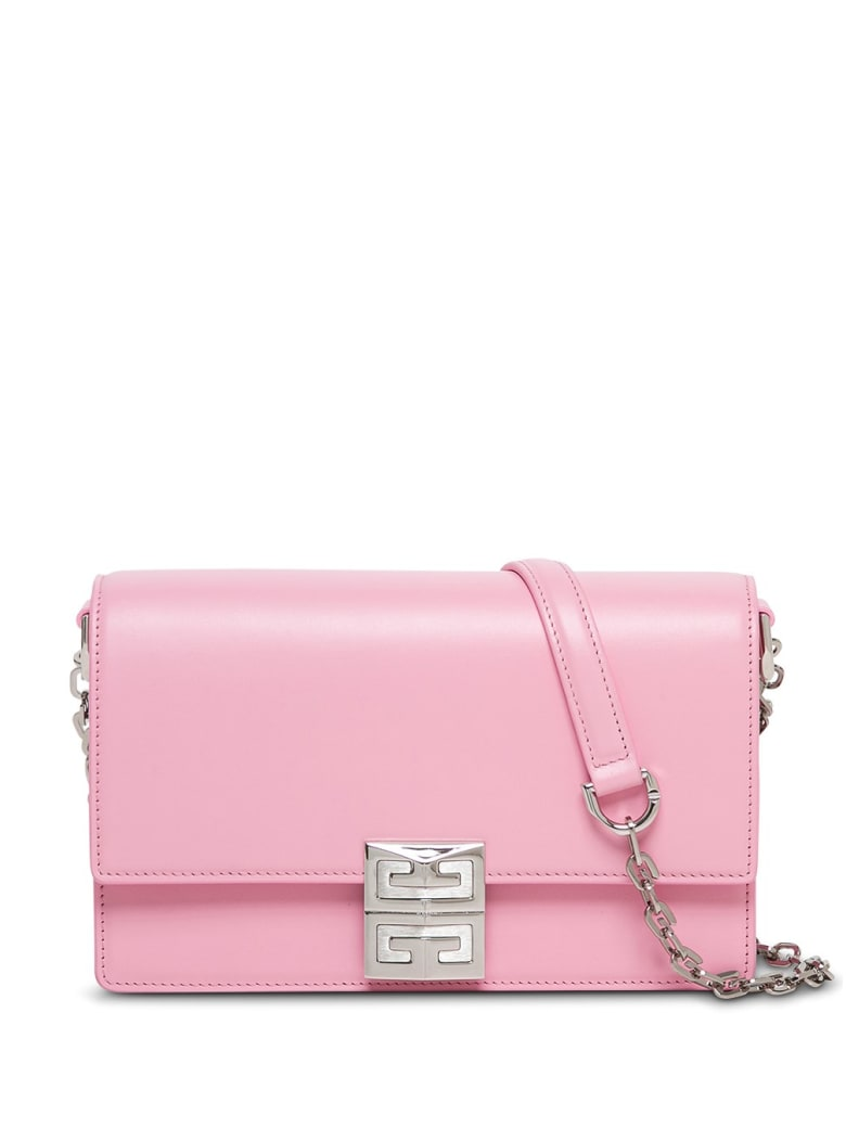 Givenchy Crossbody Bag In Pink Leather With 4g Buckle - Pink