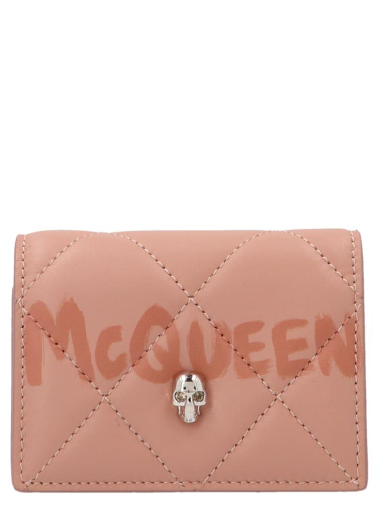 Alexander McQueen 'graffiti' Wallet - Rosa