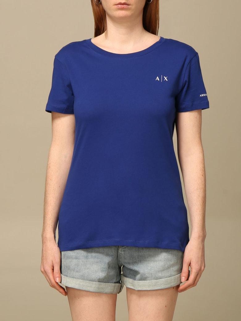 Armani Collezioni Armani Exchange T-shirt Armani Exchange T-shirt With Logo - Gnawed Blue