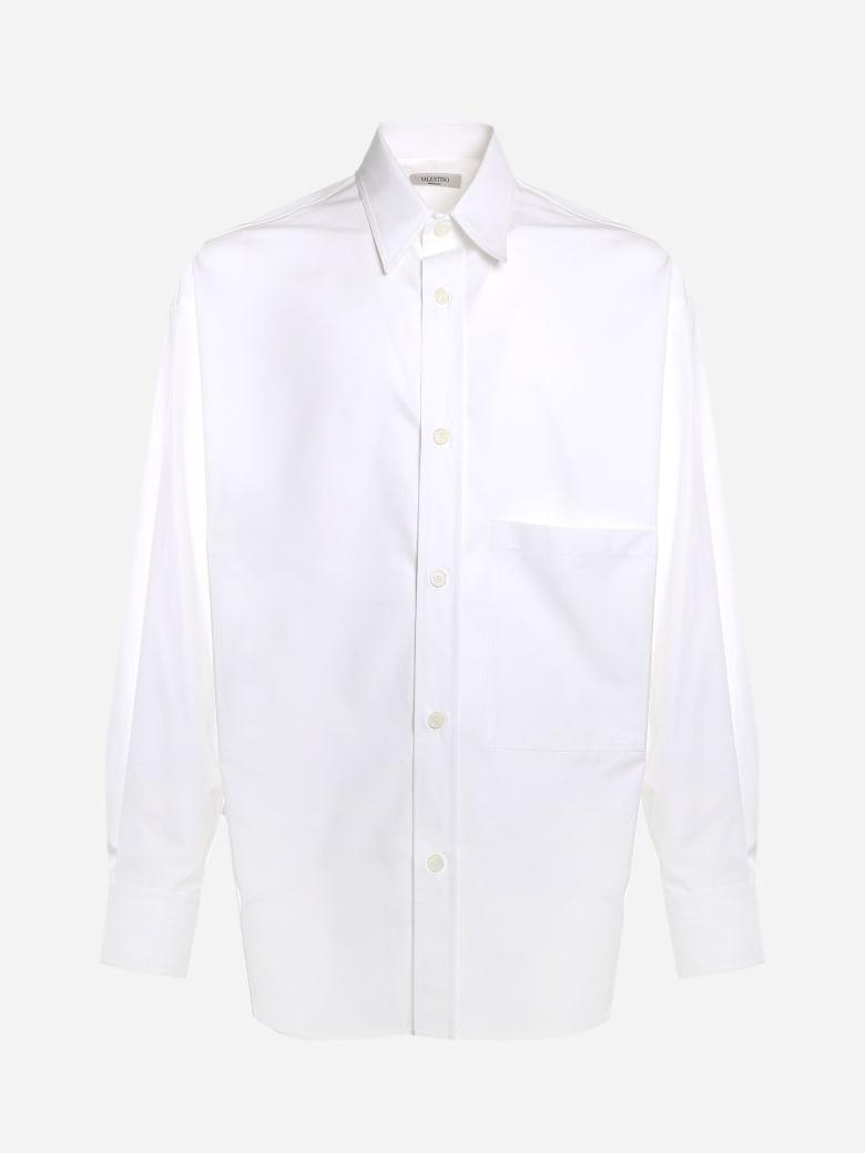 Valentino Semi-oversize Shirt Made Of Cotton - White