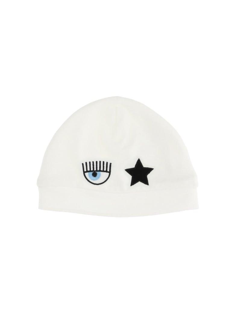 Chiara Ferragni Eyestar Hat In White Cotton - White