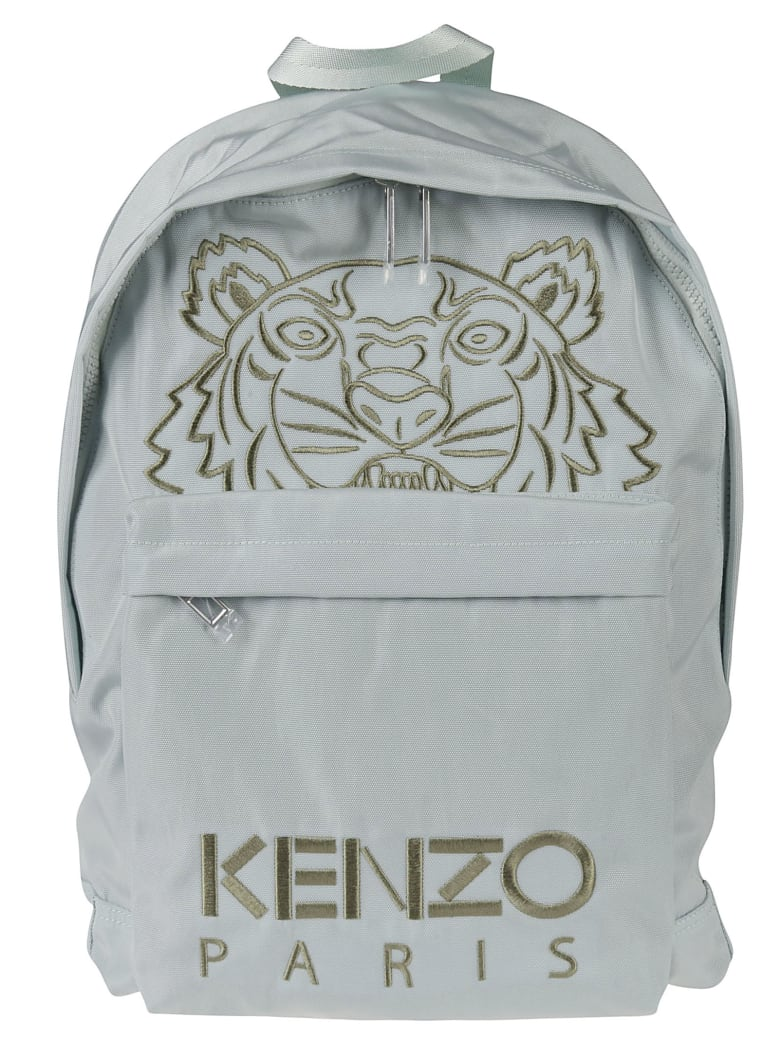 Kenzo Spring Embroidered Backpack - Sage Green
