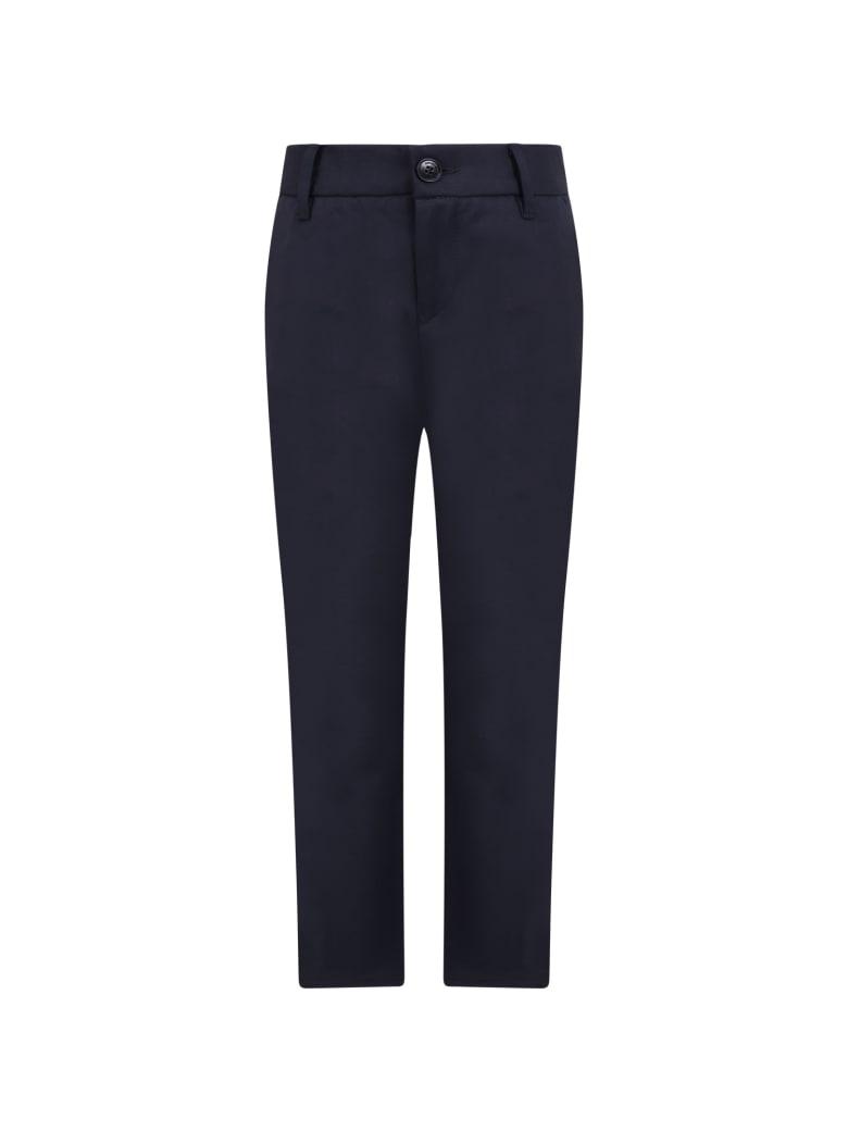 Armani Collezioni Blue Pants For Kids - Blue