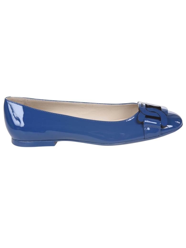 Tod's Logo Plaque Ballerinas - Bluette