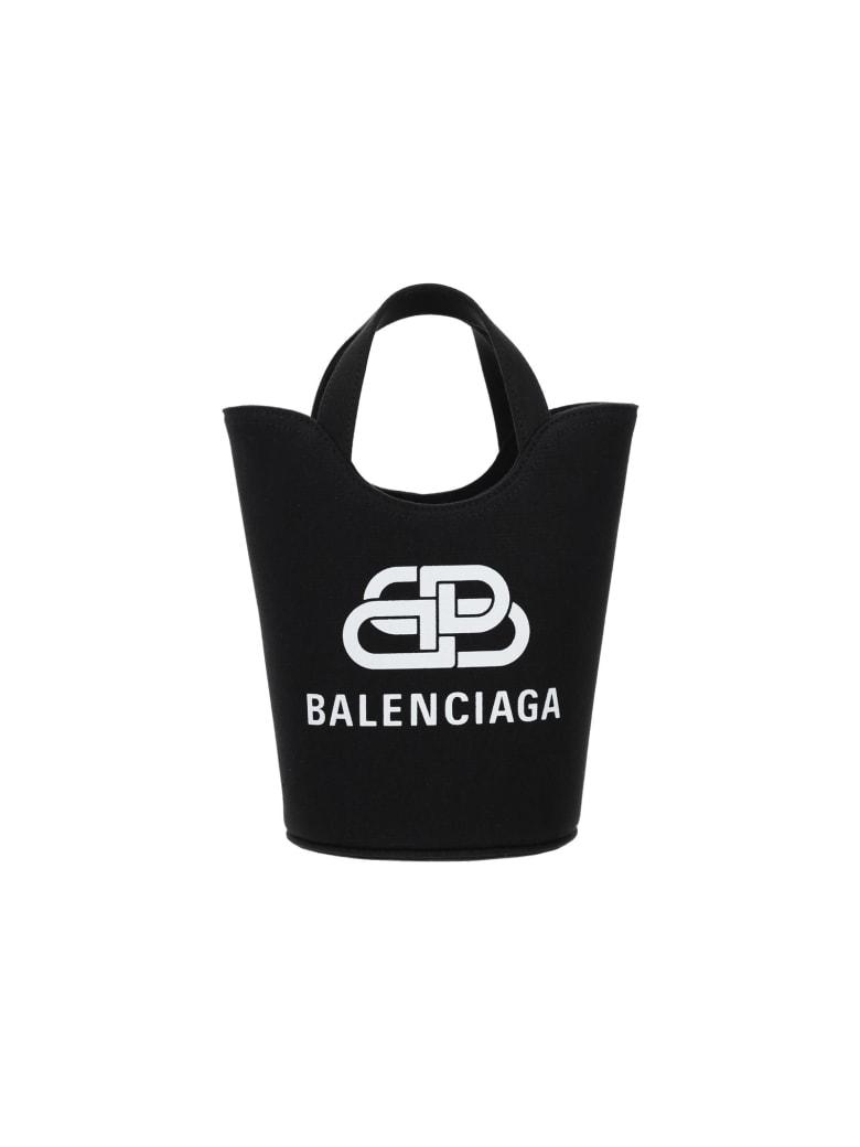 Balenciaga Wave Xs Bucket Bag - NERO/BIANCO