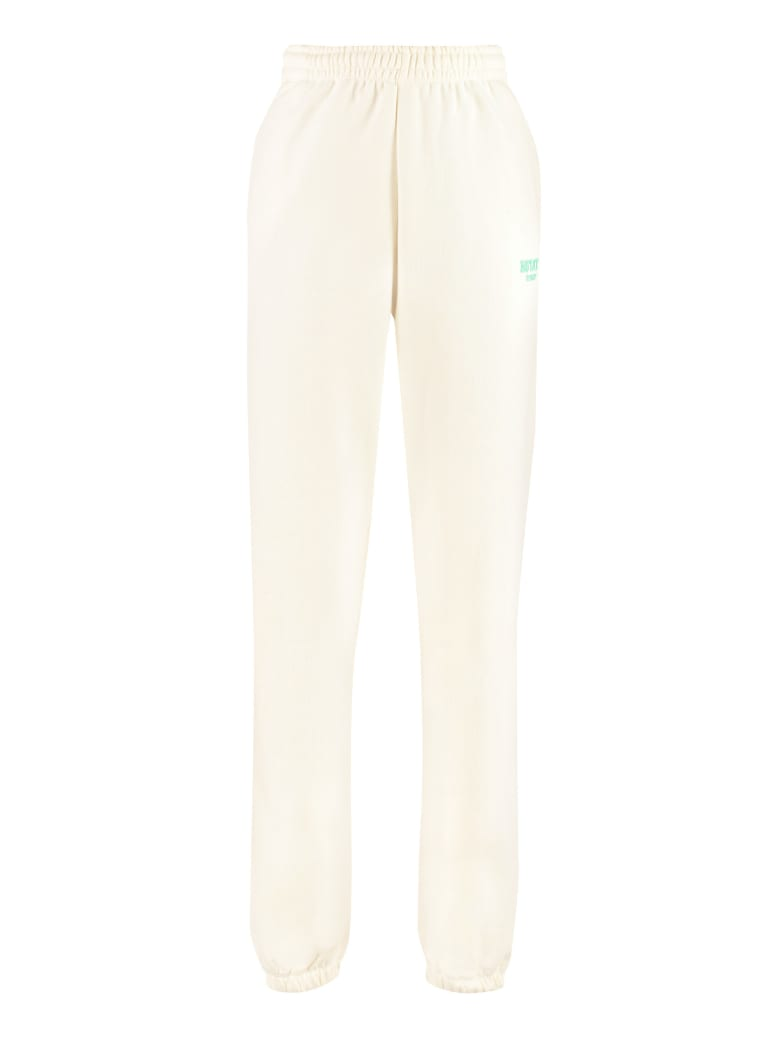 Rotate by Birger Christensen Mimi Logo Detail Cotton Track-pants - Rotate Sunday - Yellow