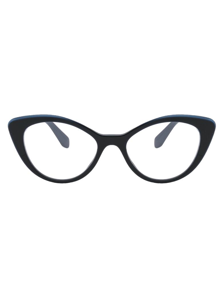 Miu Miu 0mu 01rv Glasses - TMY1O1 BLUE/TOP OPAL BLUE