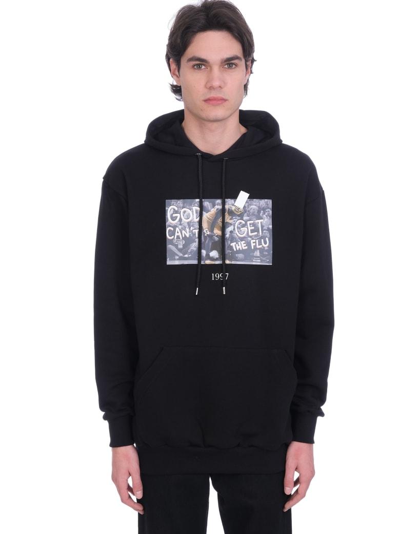 Throwback Sweatshirt In Black Cotton - black