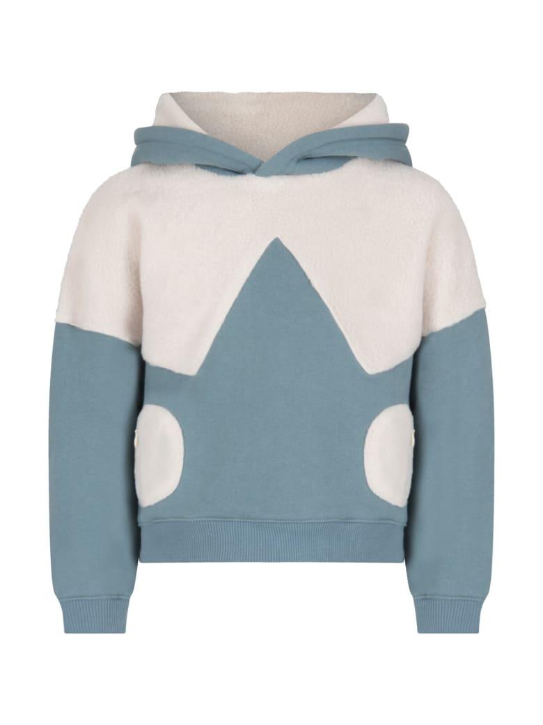 Owa Yurika Light Blue ''hiyori'' Sweatshirt For Boy - Light Blue