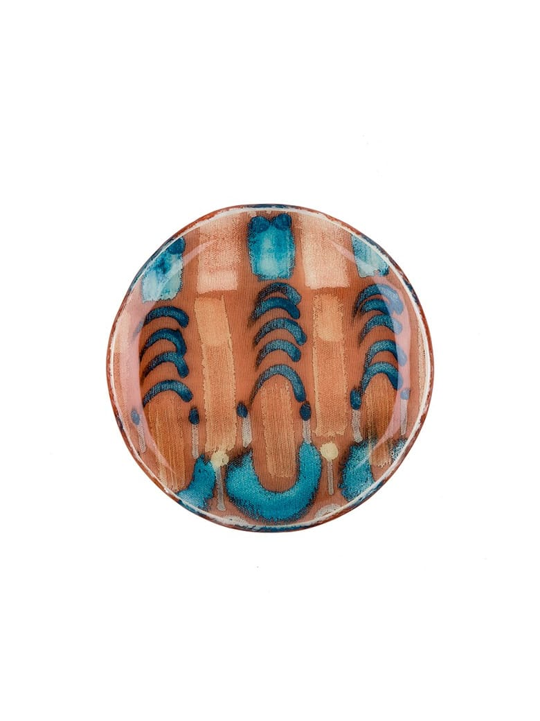Le Botteghe su Gologone Plates White Murano Glass Colores 1 Bowl  20 Cm - Red Fantasy